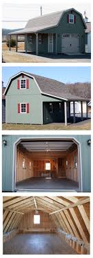 14' Wide X 28' Long With An 8' Overhang. The Gambrel (