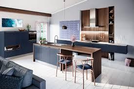 küche in der trendfarbe des sommers 2019 frisches ruhiges blau
