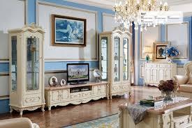 wohnwand barock stil wohnzimmer vitrine sideboard rtv regal wohnwände schrank