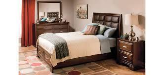 levine 4 pc queen platform bedroom set w storage bed brown