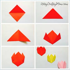 Easy Origami Tulip Craft For Kids
