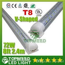 v shaped t8 led lights 72w 8ft 2 4m integrated cooler door
