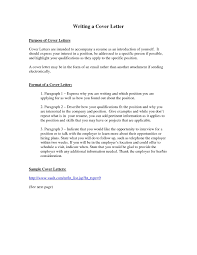Resume Cover Letter Letters Samples Free With The Purpose A