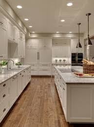 The Floors With White Kitchen Maple Wood Flooring