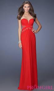 long strapless red prom dress prom dresses dressesss