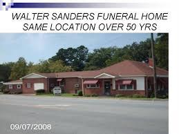 Walter Sanders Funeral Home Home