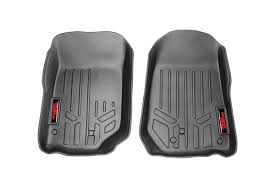 Heavy Duty Fitted Floor Mats First Row for 2007 2013 Jeep JK
