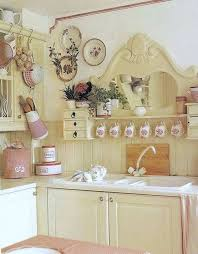 Shabby Chic Kitchen With Pink Accents