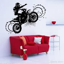 großhandel großhandel verrückte motorrad wandaufkleber junge sport wandtattoo wandbild für wohnzimmer schlafzimmer festival dekoration kity12 4 9