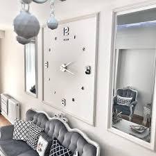 große wand uhr für modernes wohnzimmer wanduhren