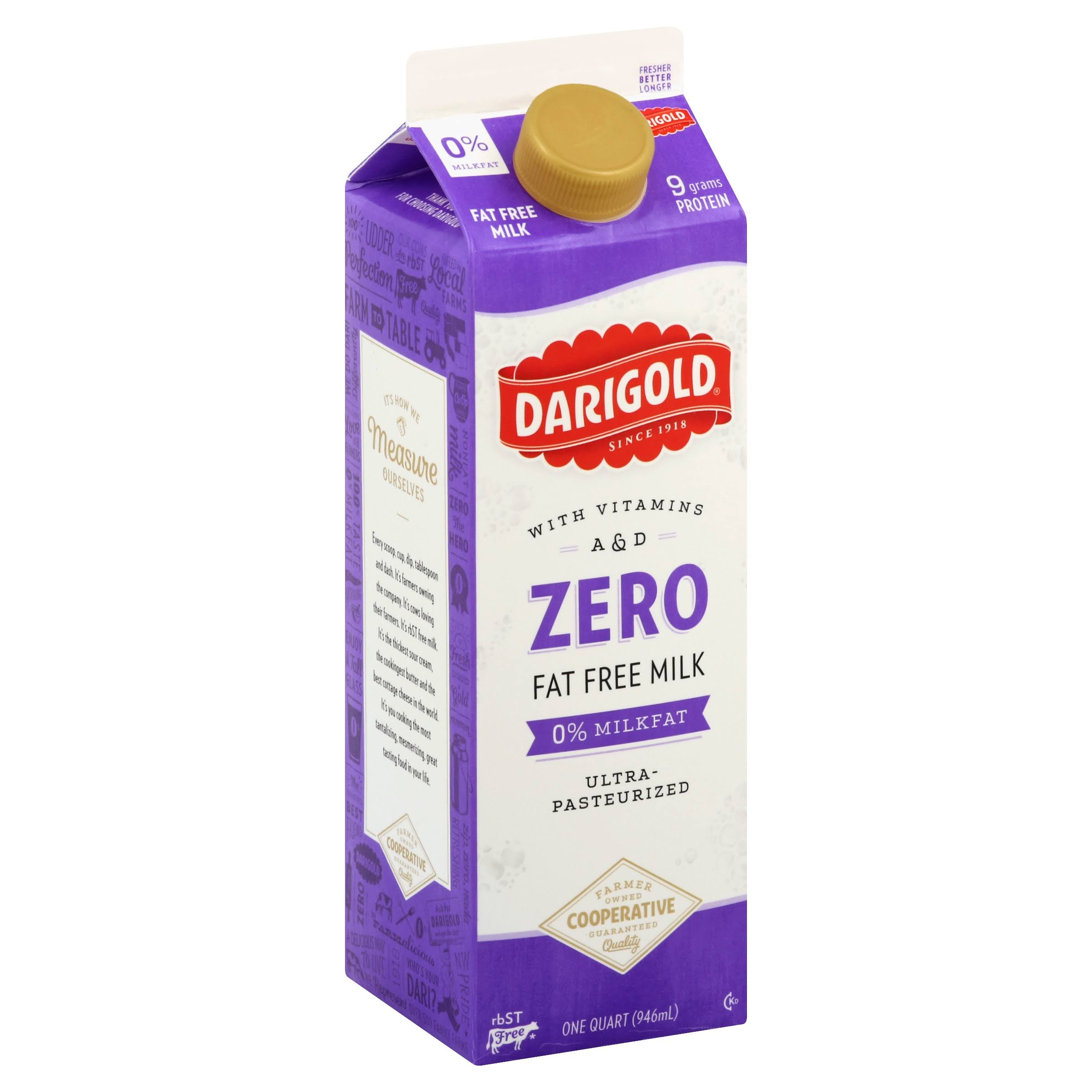 Darigold Ultra Pasteurized Fat Free Milk - 32oz