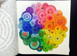 Secret Garden Colouring Book Rainbow Flowers With Colour Pencil