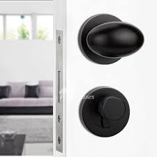Door Handles Interior Painting Zinc Alloy Without Key Smooth