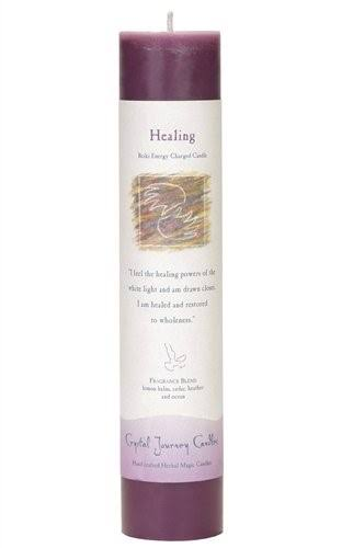 Crystal Journey Reiki Charged Pillar Candle- Healing