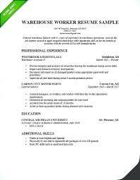 Distribution Manager Resume Warehouse Sample Worker Genius Image Supervisor