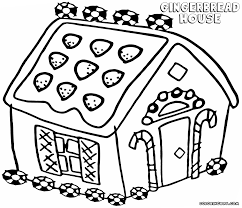 Coloring Pages Gingerbread House To