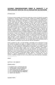 Algunas Consideraciones Sobre El Mandato Y La Procuracion Judicial Enu2026