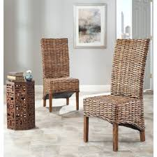 Furniture Nice Looking Indoor Wicker Dining Chairs Room Fantastical Rattan Two And Table Mission Style Suite