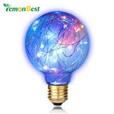 lemonbest vintage 0 8w filament copper wire g80 led light bulb e27