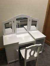 Kidkraft Deluxe Vanity And Chair Set by Kidkraft Deluxe Vanity Unit Girls Wooden Dressing Table Ebay