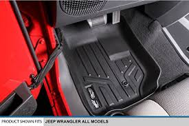Custom Fit Black All Weather JK Wrangler Floor Mats