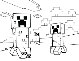 Mine Craft Coloring Page Printable Minecraft Pages Steve
