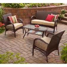 Amazon Patio Chair Cushions by Amazon Com Indoor Outdoor Patio Furniture All Weather Wicker 4