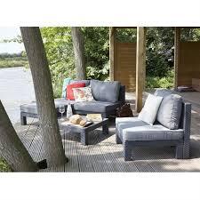 canapé de jardin design salon de terrasse pas cher mobilier jardin design askelldrone