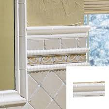 shop dal tile 2 x 6 white chair rail tile at lowes
