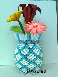 Flower Vase Made Of Paper
