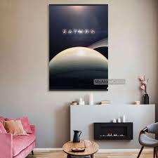 cosmos saturn holz rahmen leinwand dekoration drucke für kinder wohnzimmer magnetische gerahmte wohnkultur malerei