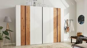 interliving schlafzimmer serie 1019 kleiderschrank 523062 wildeiche weißer mattlack sechs türen
