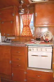 Photo Of Original Kitchen Cabinets In A Vintage 1955 Shasta Trailer