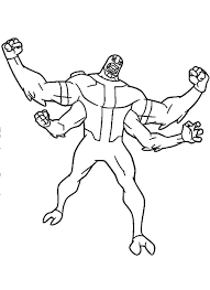 Ben Ten Aliens Coloring Pages 10 Ultimate Alien Y8 Unique For Your Free Book Omniverse Sheets