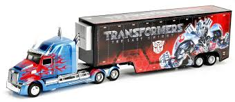 100 Optimus Prime Truck Model Jada Diecast Metal 164 Scale Transformers Movie Last Knight