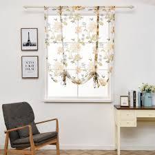 pfingstrose blume römischer vorhang küche fenster jalousien vorhänge gelb 60 x 120 cm
