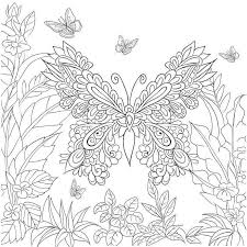 Butterfly Garden Beautiful Butterflies And Flowers Patterns For Relaxation Fun Stress Relief Adult Coloring PagesColoring
