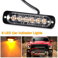 100 Strobe Light For Trucks High Quality 6 LED Car Truck Van Side Warning Flasher