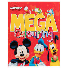 288788 Mega Licensed Colour Book Disney Mickey And