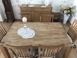 esszimmer royal oak bestehend aus 1 tisch 6 stühle kommode