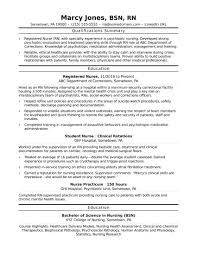 Sample Nursing Resume Registered Nurse Rn