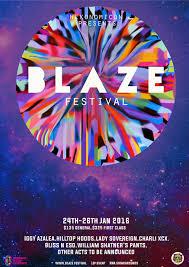Blaze Music Festival Poster Design On Behance