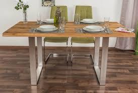 esstisch wooden nature 414 eiche massiv geölt tischplatte glatt 160 x 90 cm b x t