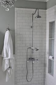 white beveled subway tile bathroom cube white minimalist stained