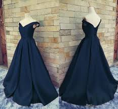 navy blue off shoulder prom dresses 2017 v neck ruched satin floor