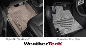 Lund Rubber Floor Mats by Floorliners Vs Floor Mats In Your Vehicle Youtube