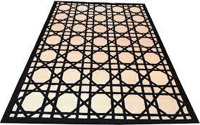 casa padrino luxus teppich aus neuseeland wolle schwarz weiss 170 x 240 cm handgetufteter wohnzimmerteppich