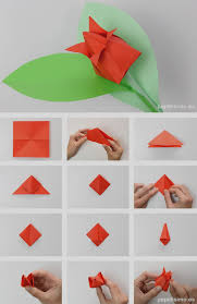Unique Origami Tulip For Kids Como De Flowers