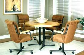 Licious Dining Room Chair Casters Swivel Chairs Without With For