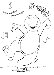 Check Out The Following Collection Of Barney Coloring Pages And Pick Best Ones For Your